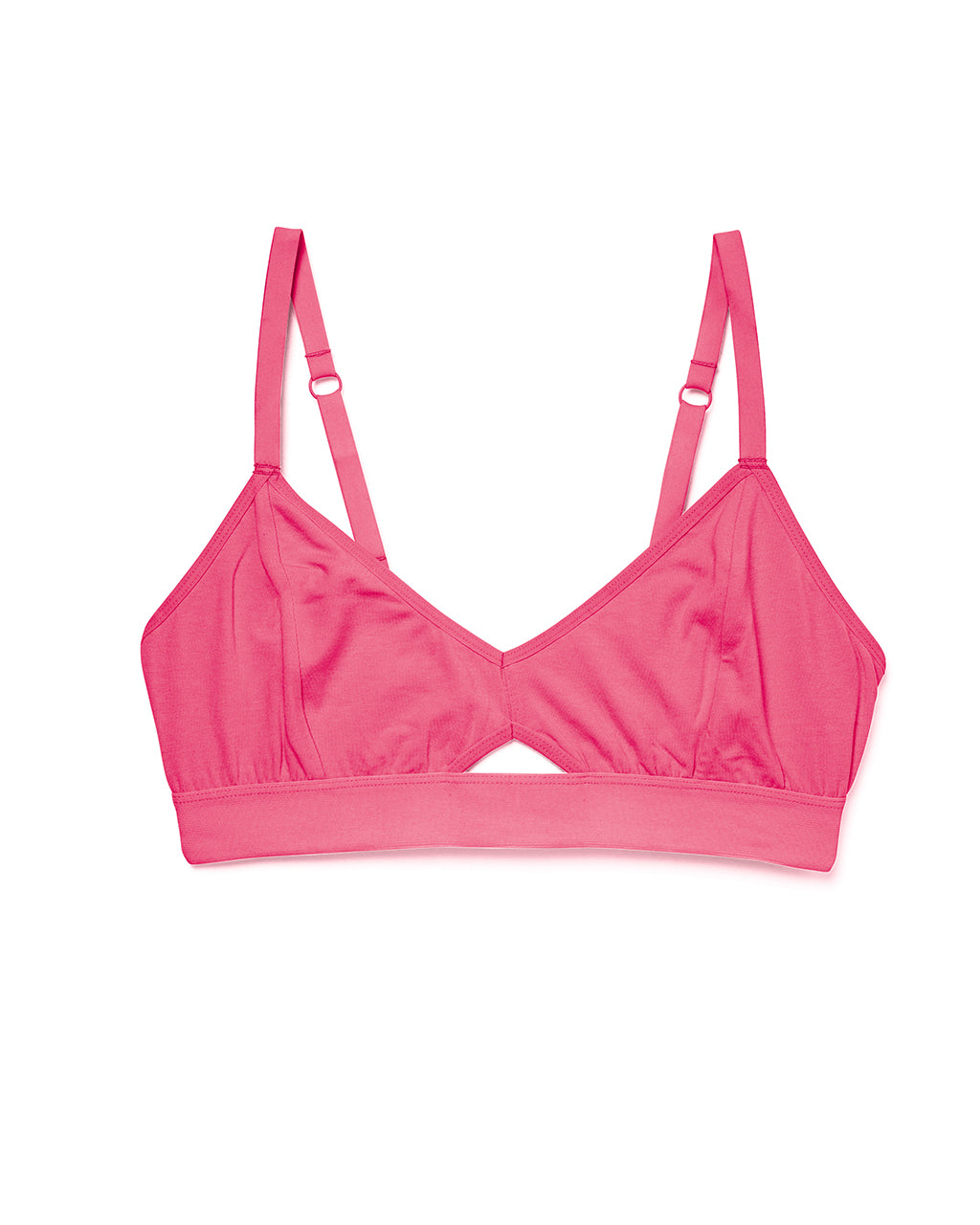 Cutout bralette in pink.