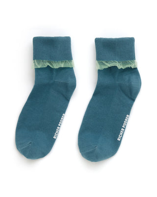 sade sock - teal mint