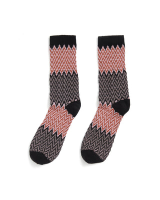 current textured crew sock