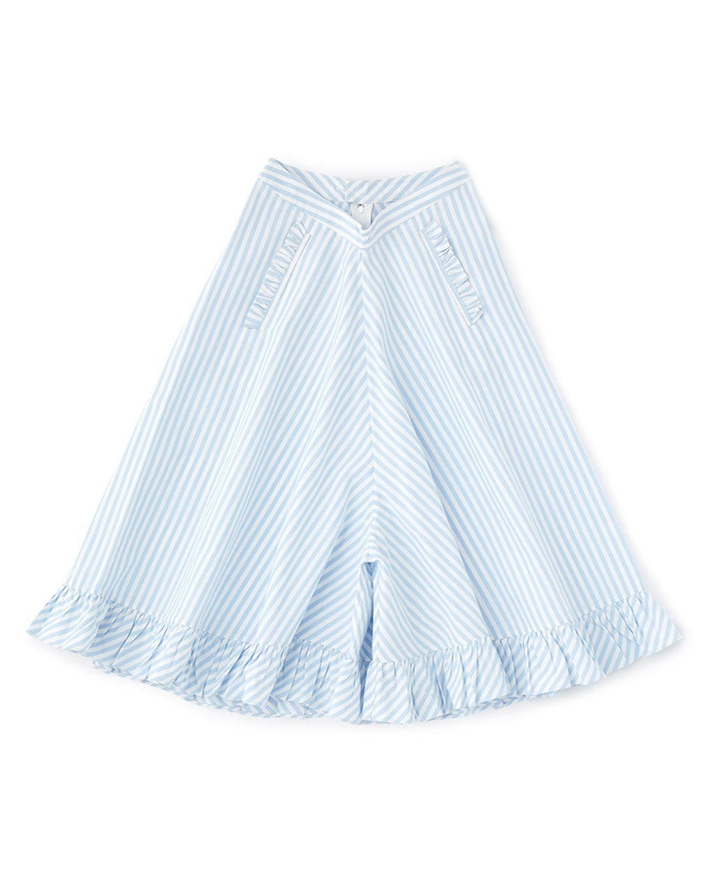 dewdrop pants - blue/white