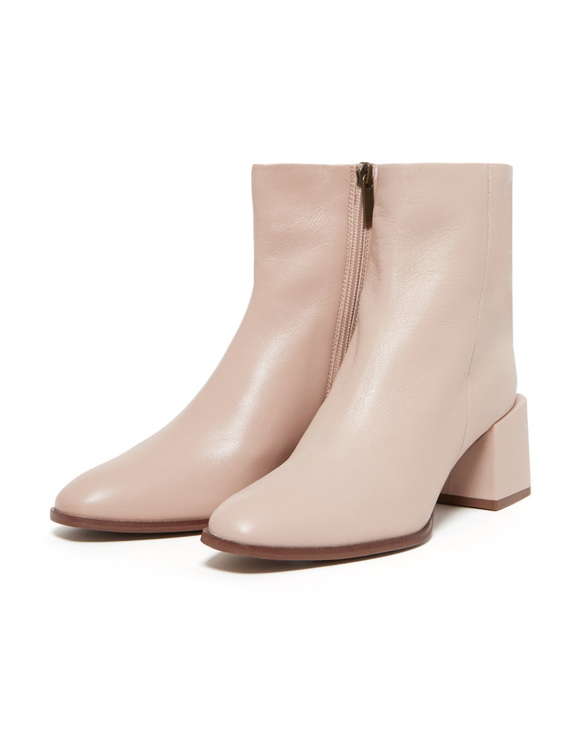 pale pink leather boots