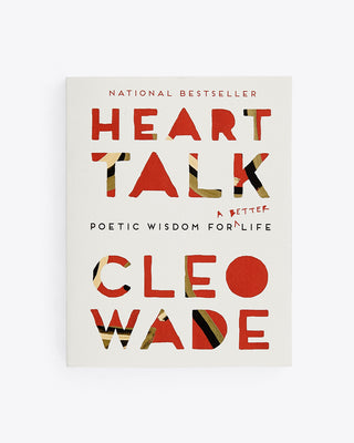 front cover of Heart Talk by Cleo Wade. red text with green and ivory detail