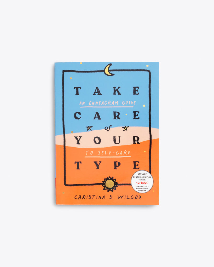 blue and orange cover of take care of your type