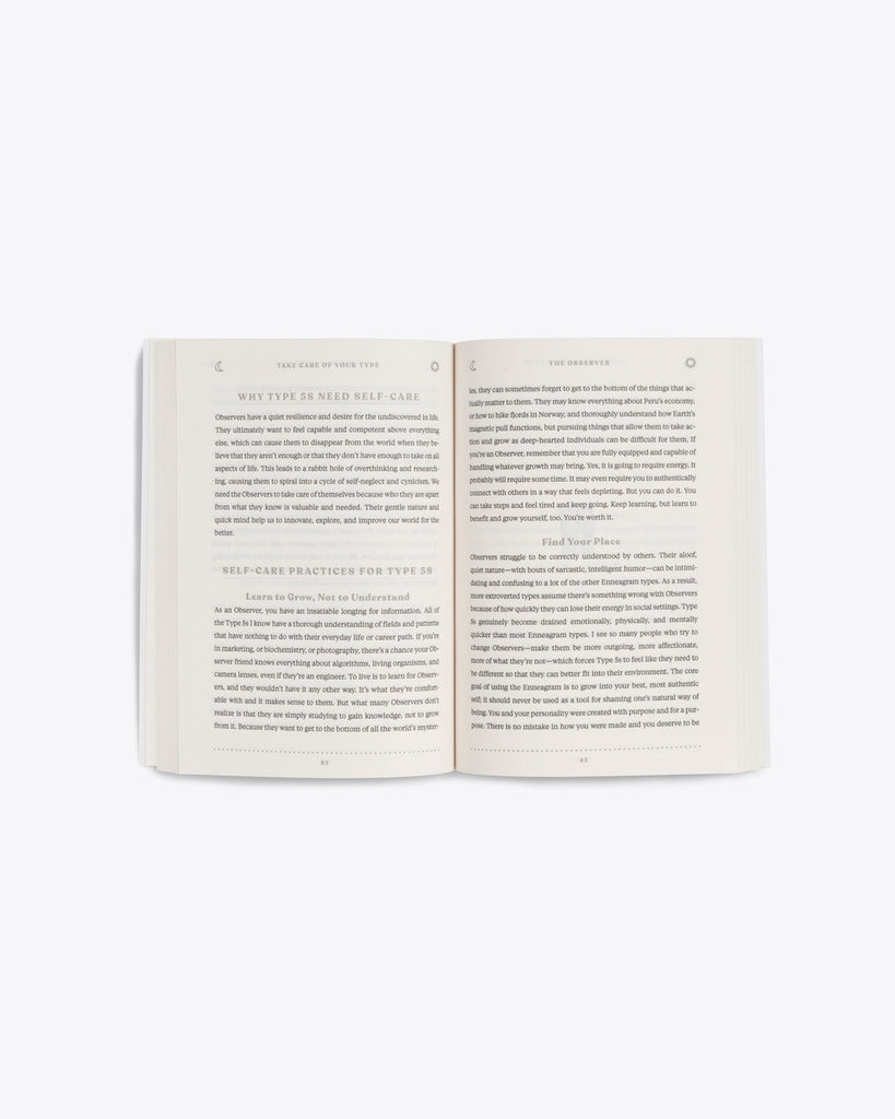 interior pages of take care of your type