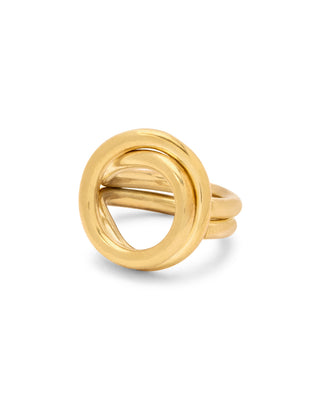 Brass ring handcrafted in Kenya.