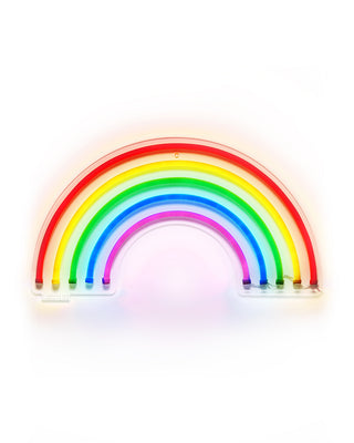 rainbow neon wall sign