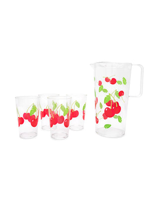 party drinkware set - cherry