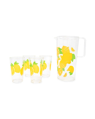 party drinkware set - lemon