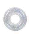 Silver holographic inflatable pool ring