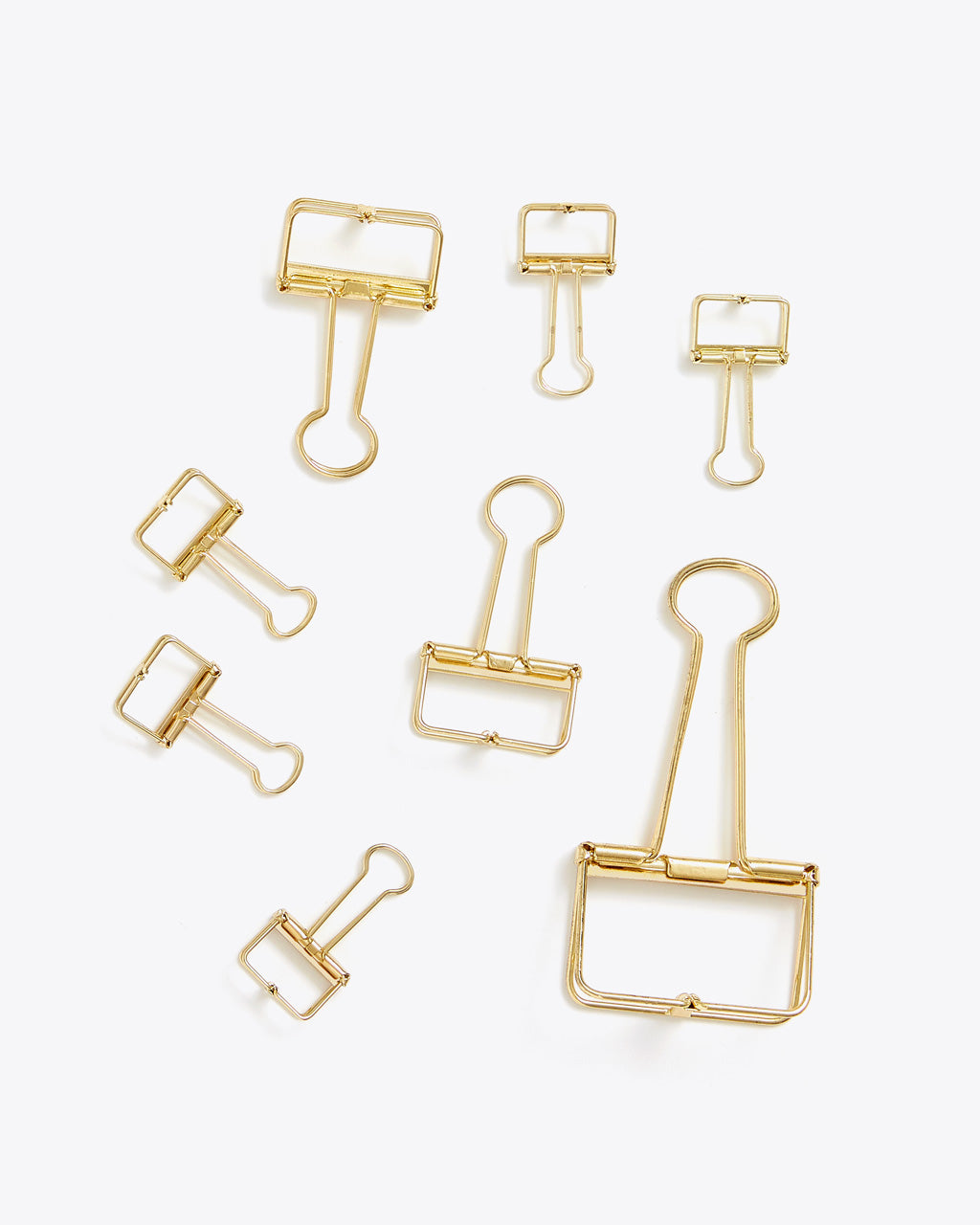 assortment of various sized binder clips