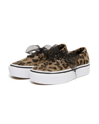 authentic platform - fuzzy leopard