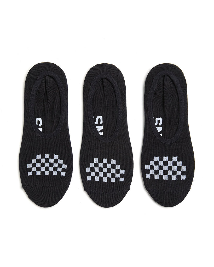 These Vans Classic Canoodle socks are black with white checkerboard pattern on top.