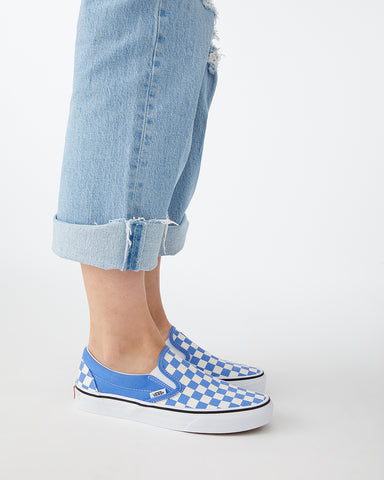 Classic Checkerboard Slip On - Ultramarine/True White