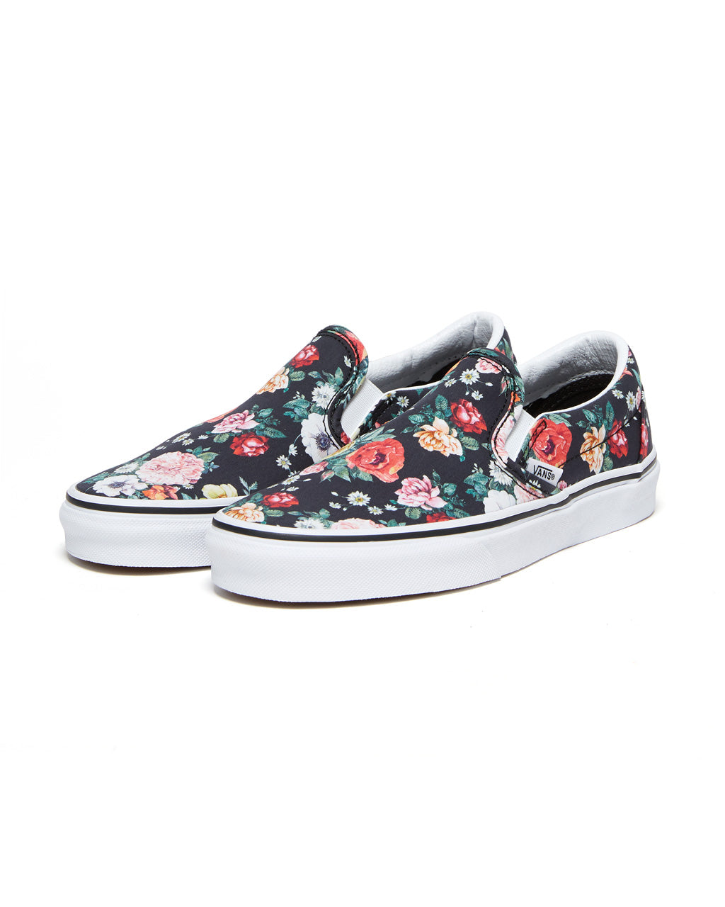 Vans classic slip on in a garden floral.