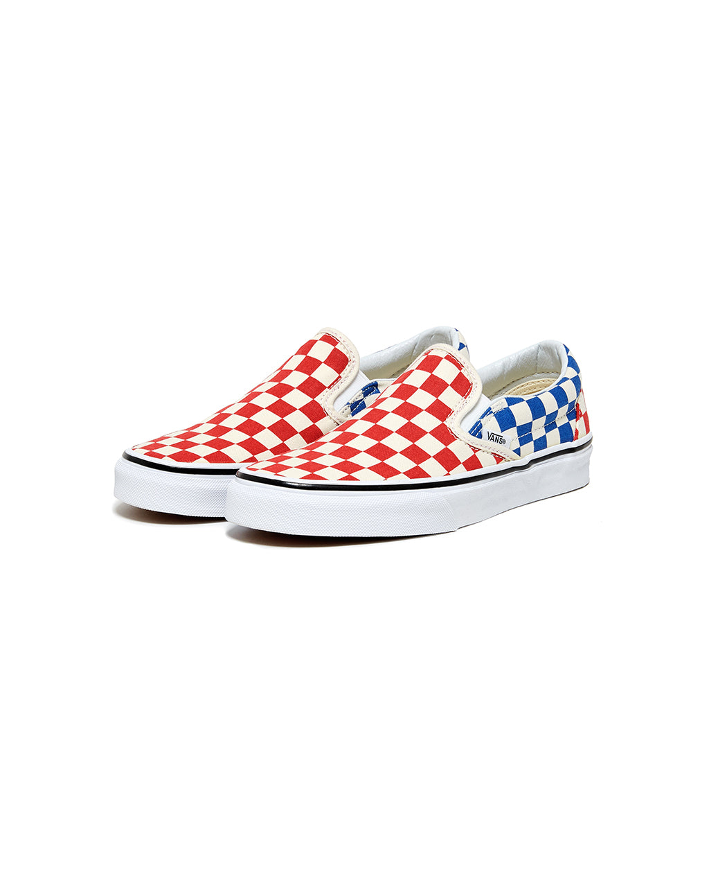 ... classic slip-on - red and blue check ...