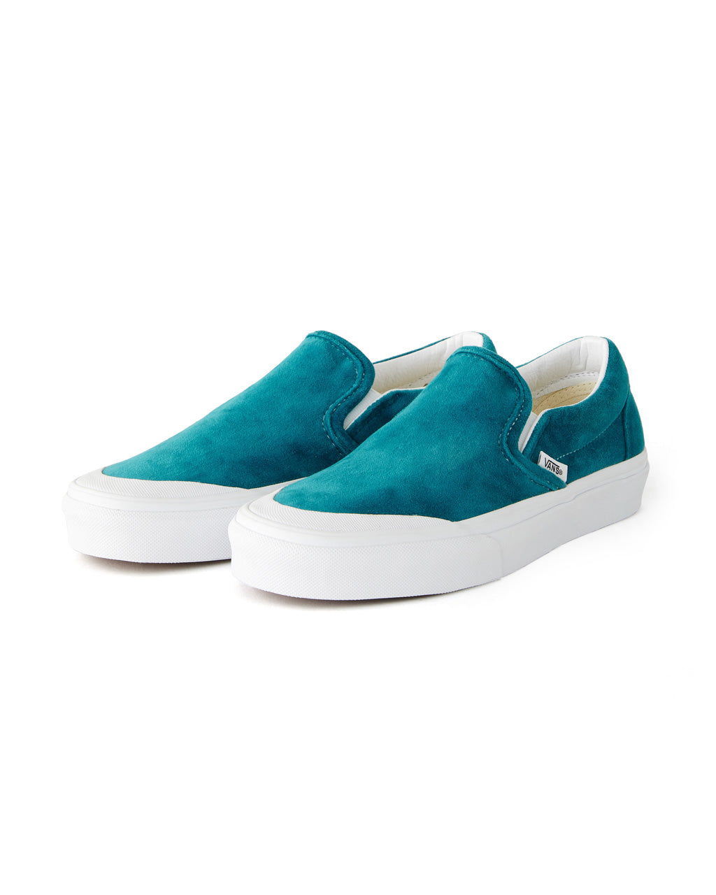Classic slip on sneakers in velvet blue.