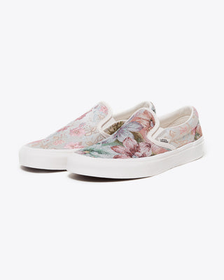 floral tapestry slip on vans
