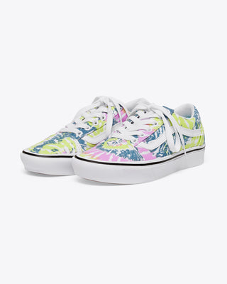 vans authentic sneaker in multicolored orchid tie dye