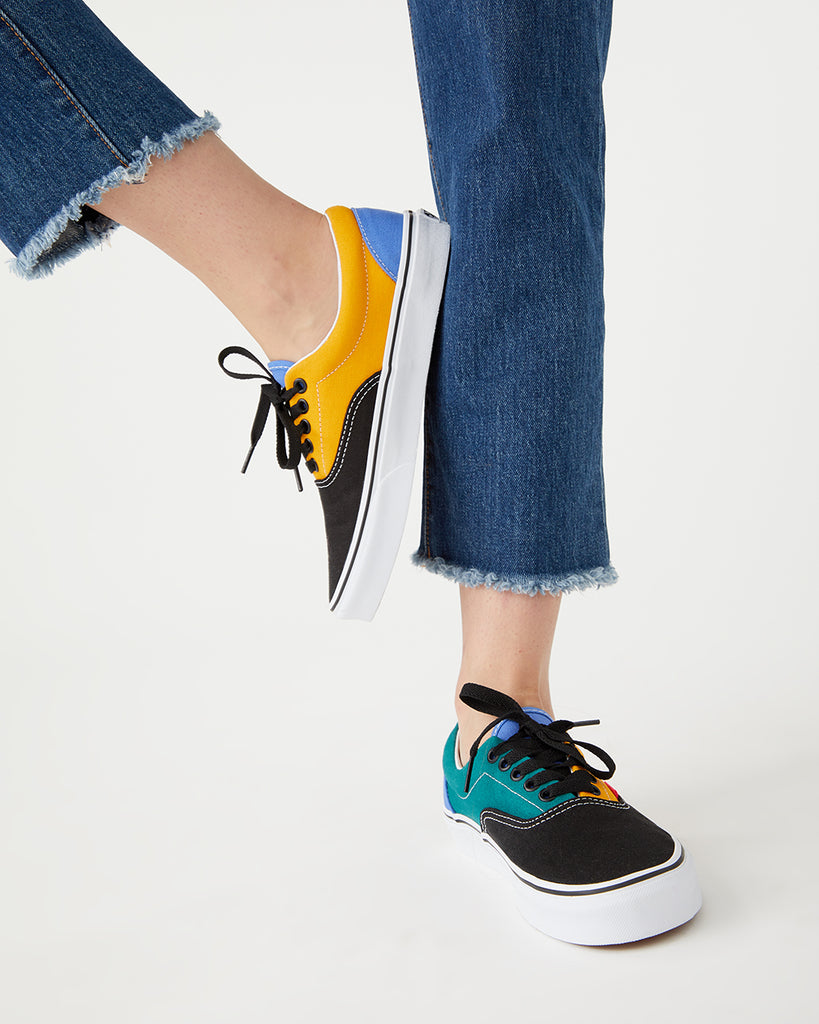 Era style sneakers in cadmium yellow and tidepool.