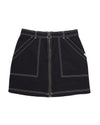This In The Know skirt by Vans comes in black, with white stitching.