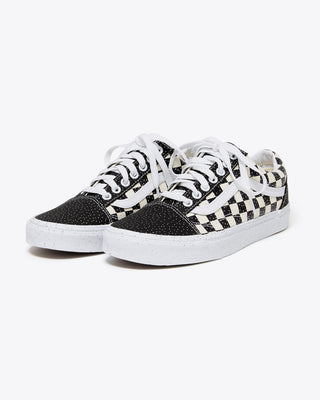 black and white confetti old skool vans