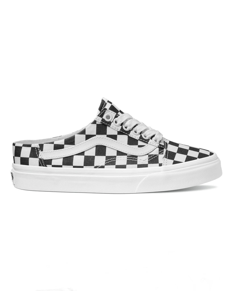black and white Vans authentic sneaker mule