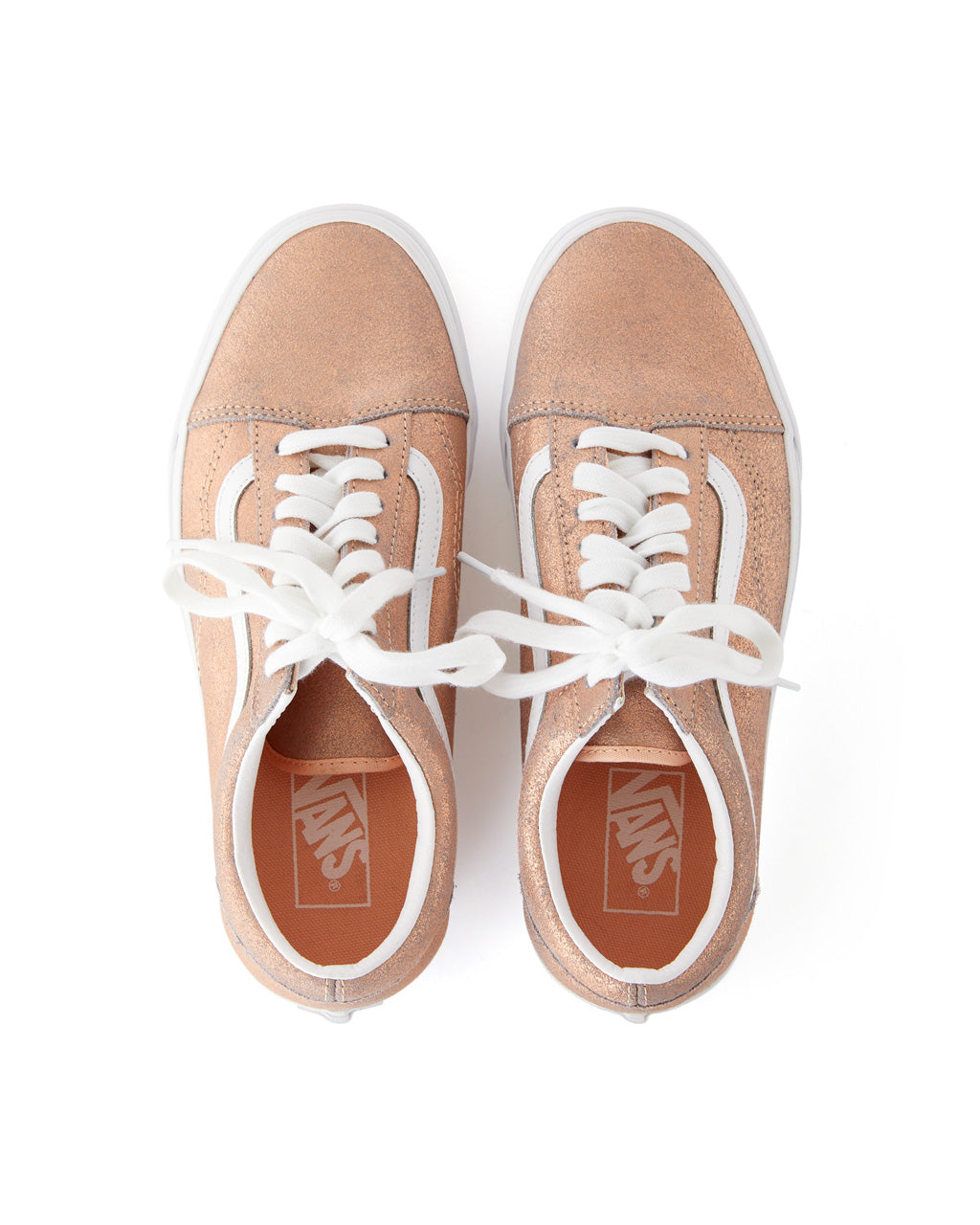 Vans Metallic Leather Classic Slip On in Rose Gold in 2020