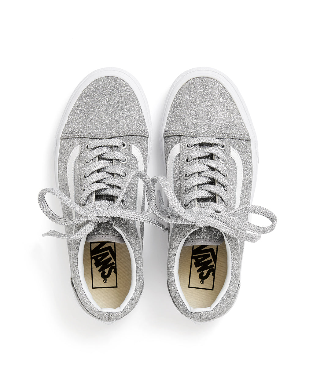 4157444618a298 Old Skool - Silver Glitter by vans - shoes - ban.do