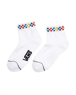 Peek-a-check Crew Sock - White