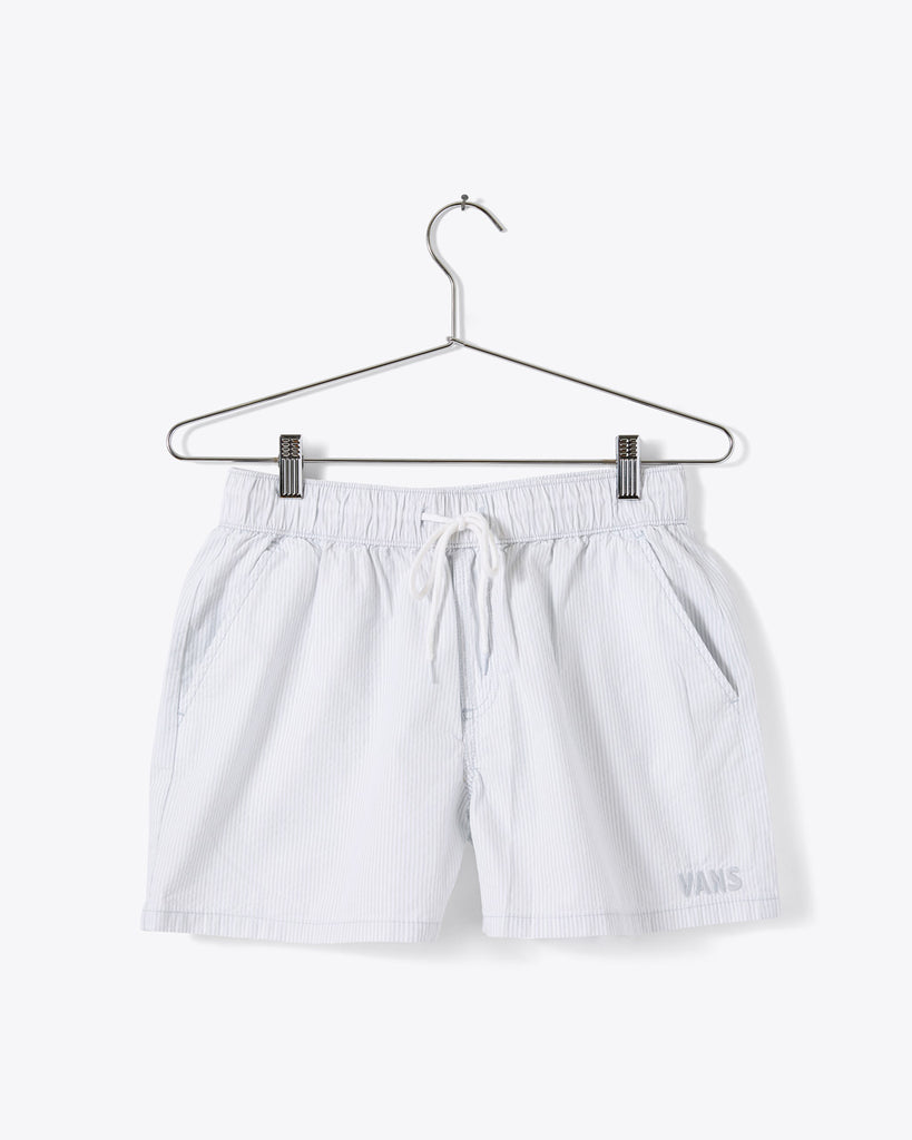 tie waist shorts shown on hanger