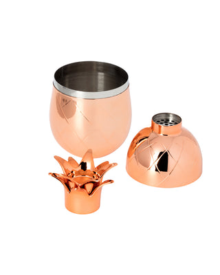 pineapple cocktail shaker - copper