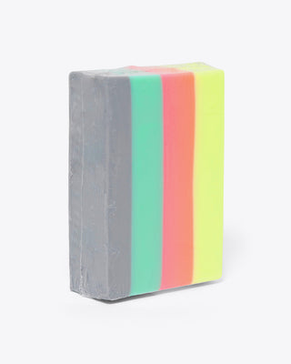 multi colored stripe soap bar
