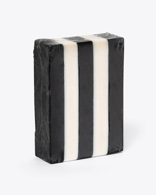 black and white stripe soap bar