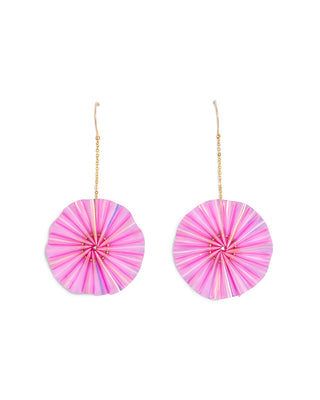 bloom earrings - iridescent pink