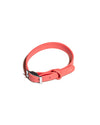 This pet collar by Wild One comes in a soft red color.