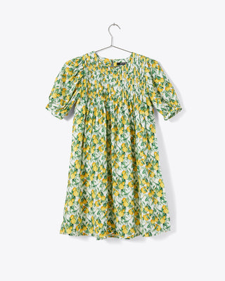 short sleeve mini dress with all over lemon print