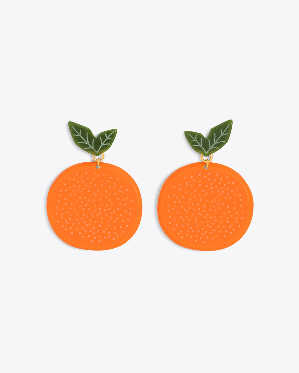 Large acrylic orange earrings