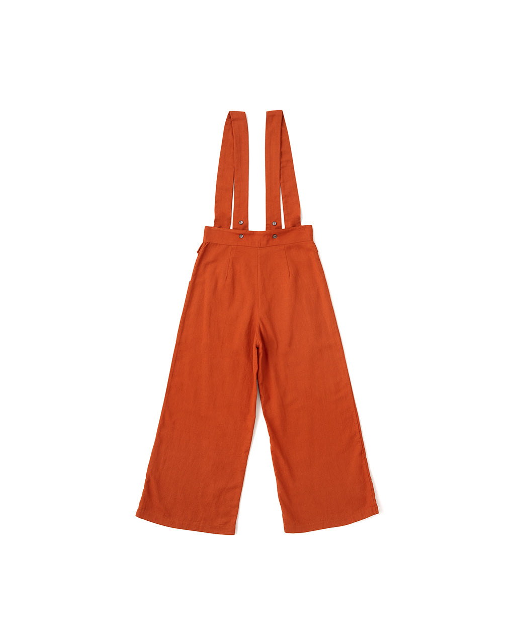 back view of overalls with adjustable straps