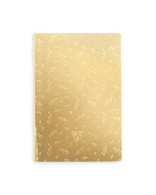 gold coriandoli notebook