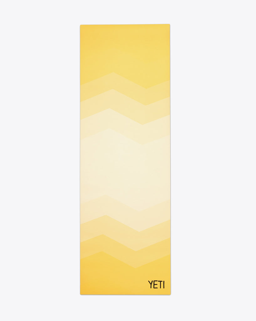 yellow ombre colored yoga mat