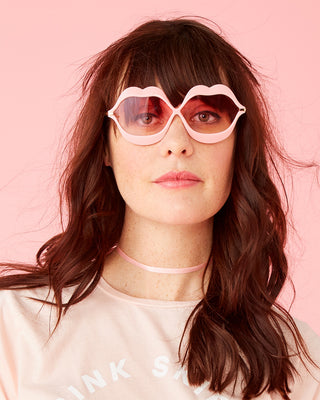pink lips sunglasses