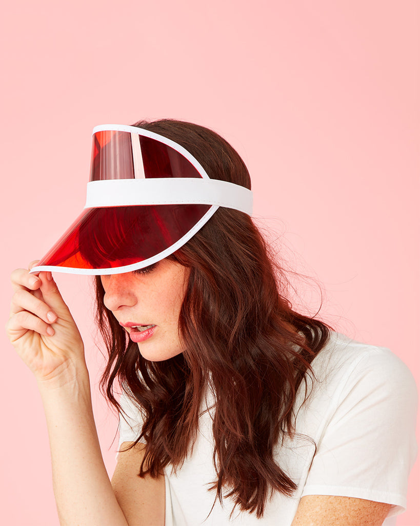 Red Party Visor By Party Store Hat Ban Do