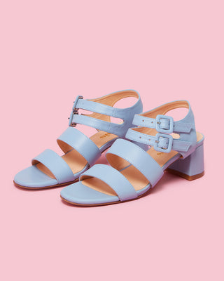 jardin heel - sky leather