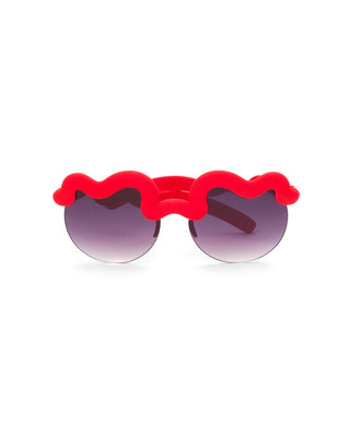 red squiggle sunglasses