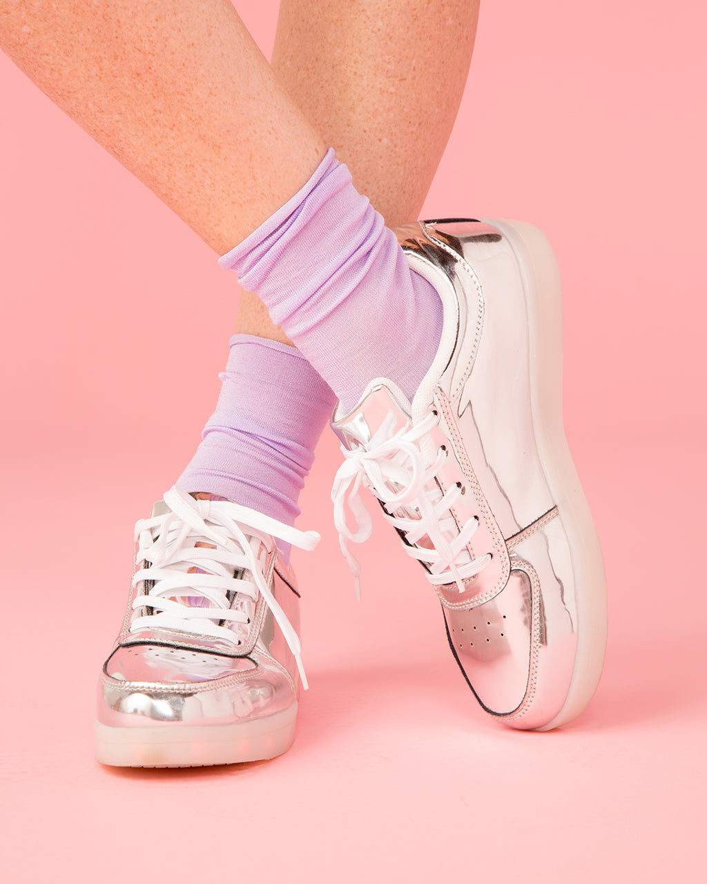 Silver Light Up Sneakers by party store - shoes - ban.do 40c286d9a682