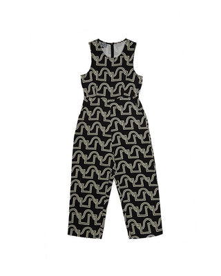 black duo weave jumpsuit