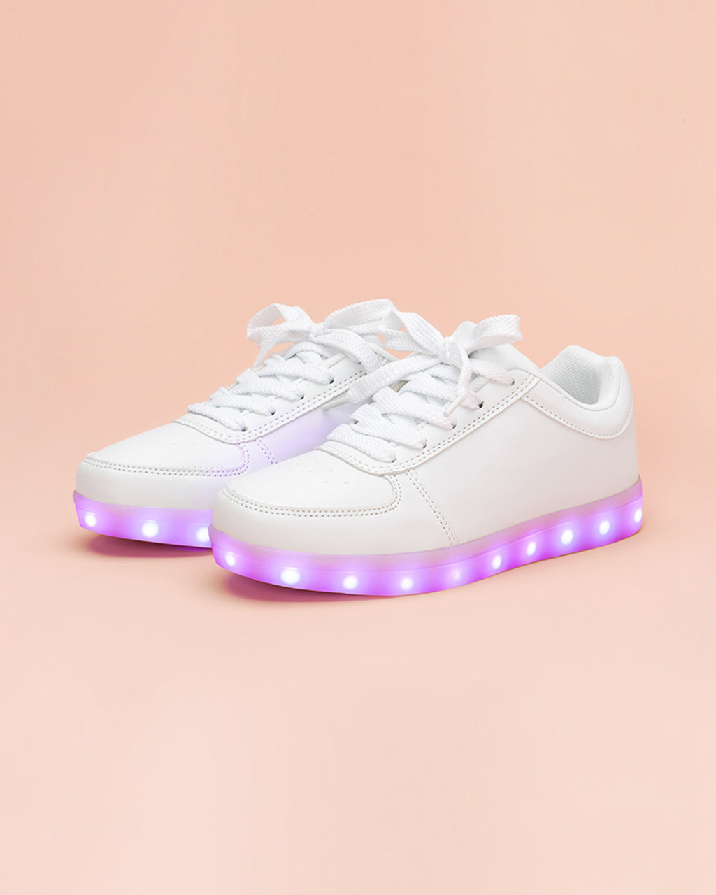 White Light Up Sneakers by party store