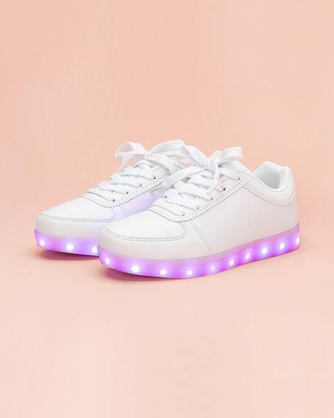 White Light Up Sneakers by party store - shoes - ban.do 2ce3b7ecea81