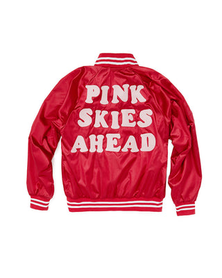 pink skies ahead bomber jacket