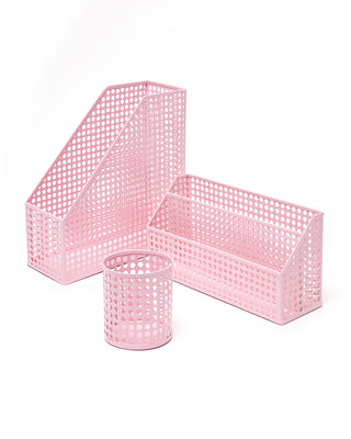 pink desk accessories bundle